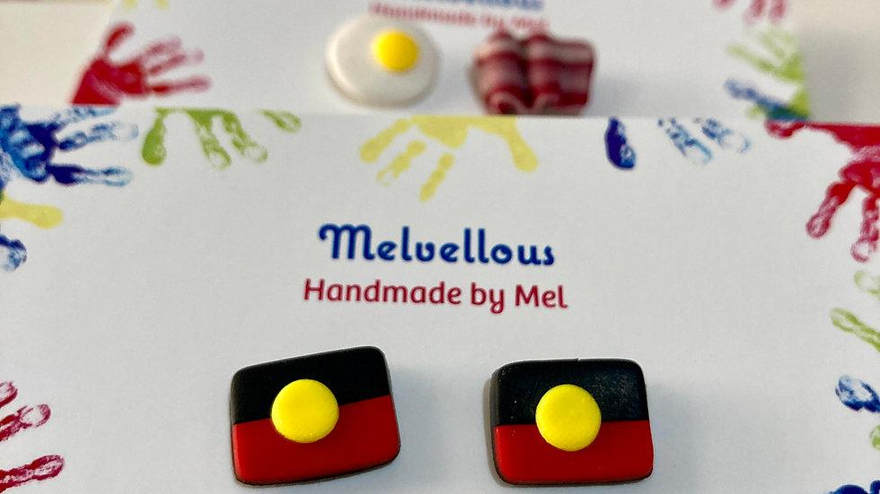 Aboriginal Flag Stud