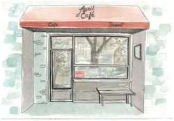 commission - april & cafe