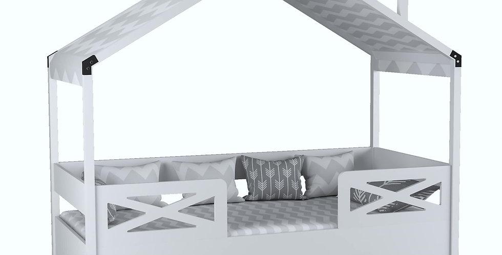 Çatılı Karyola 90x190 Beyaz