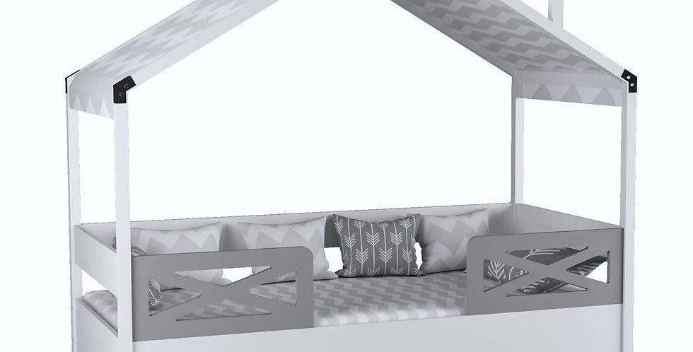 Çatılı Karyola 90x190 Grey