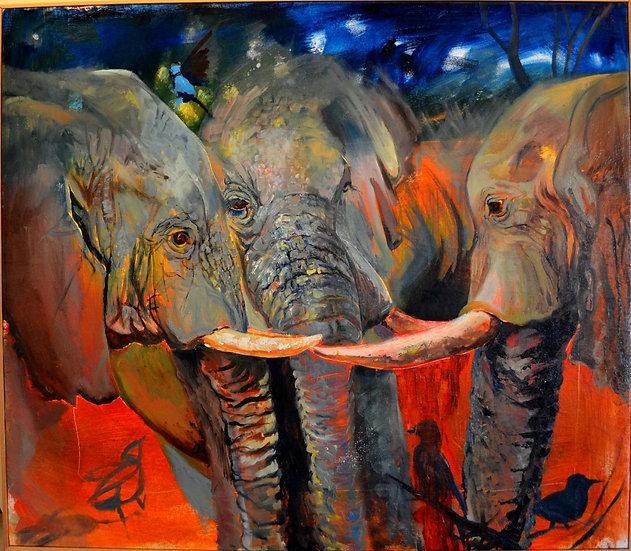 Elephant Meditation Giclee
