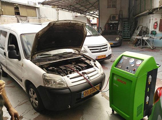 הוספת גז למזגן הרכב