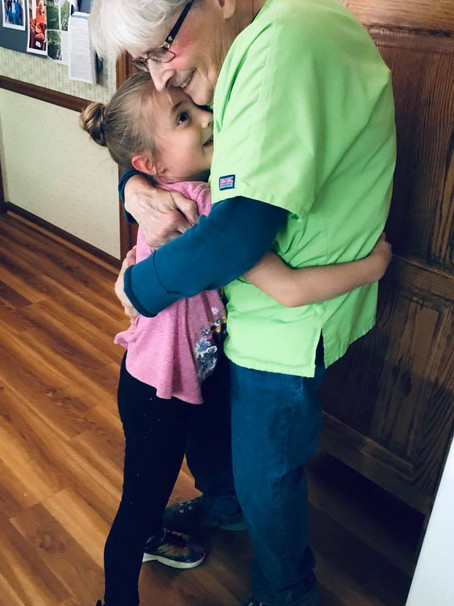 There's just something about a grandma's hug...