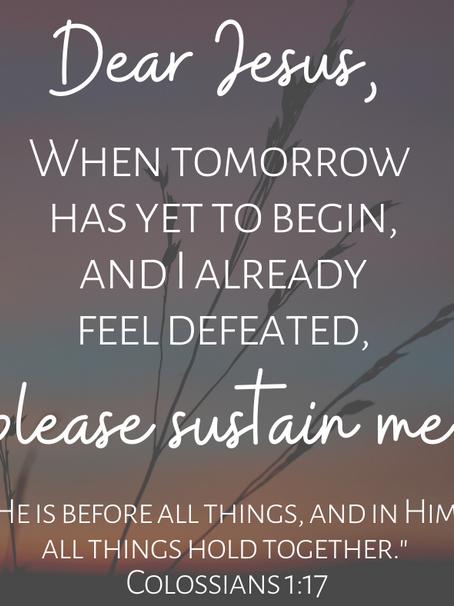 Jesus, Sustain Me
