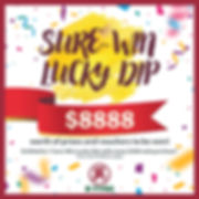 Sure Win Lucky Dip Advertisement Square.