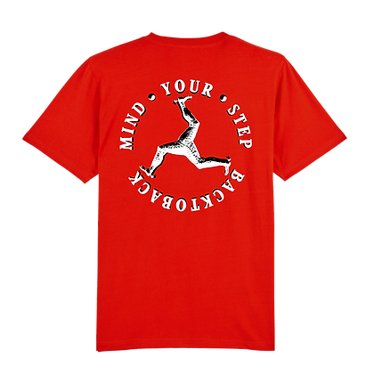 ORGANIC MIND YOUR STEP TEE RED