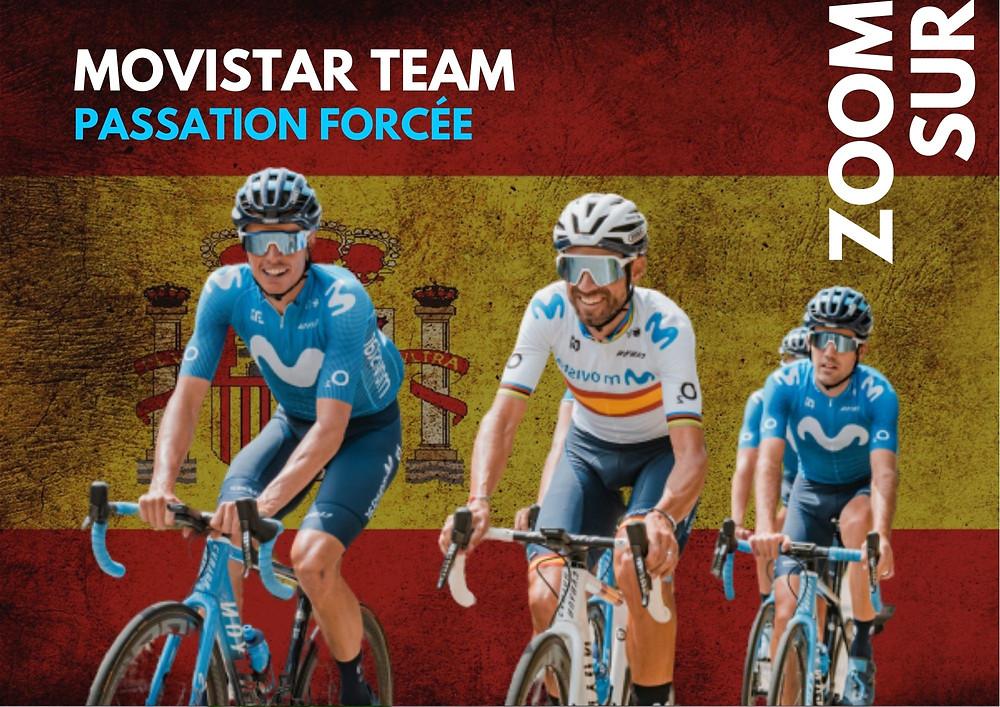 Movistar version 2020, où Valverde aura un rôle déterminant à jouer