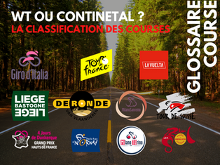 La classification des courses professionnelles