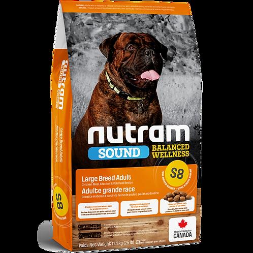 NUTRAM -  S8 Recette de poulet et flocons d'avoine (Grande race)