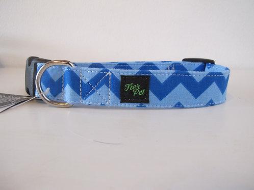Fier-Pet - Collier - Zig Zag Bleu