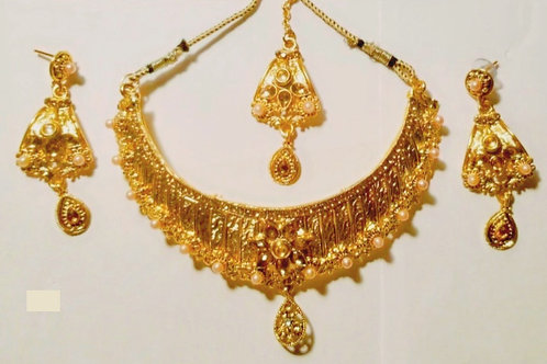SS-Golden Necklace Set