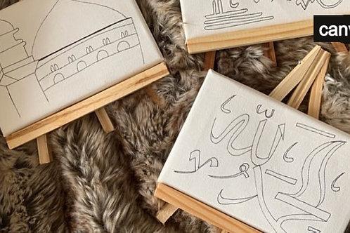 ABK - Kid's Art Kit (Arabic canvas)