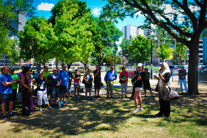 Special guests in R.V. Burgess Park: City Parks Alliance