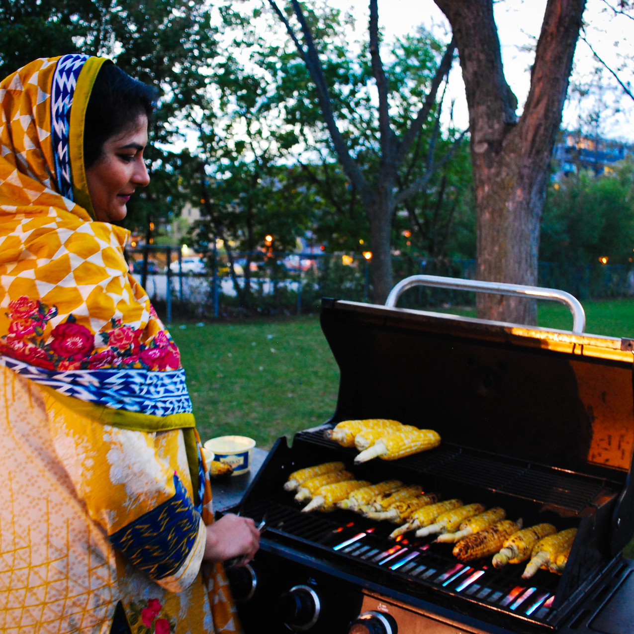 Corn Vendor in R.V. Burgess Park