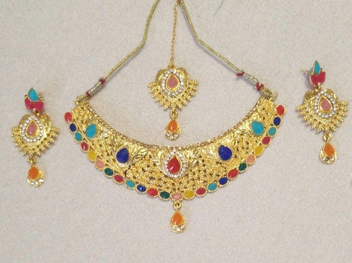 SS-Multicoloured Necklace Set
