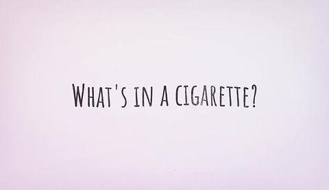 What's in a cigarette?