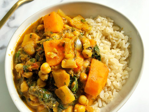 CHICKPEA, SWEET POTATO & SPINACH CURRY