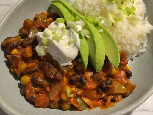Black Bean Chilli Recipe (Vegan)