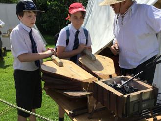 Cropredy school at the 'Battle of Cropredy Bridge'
