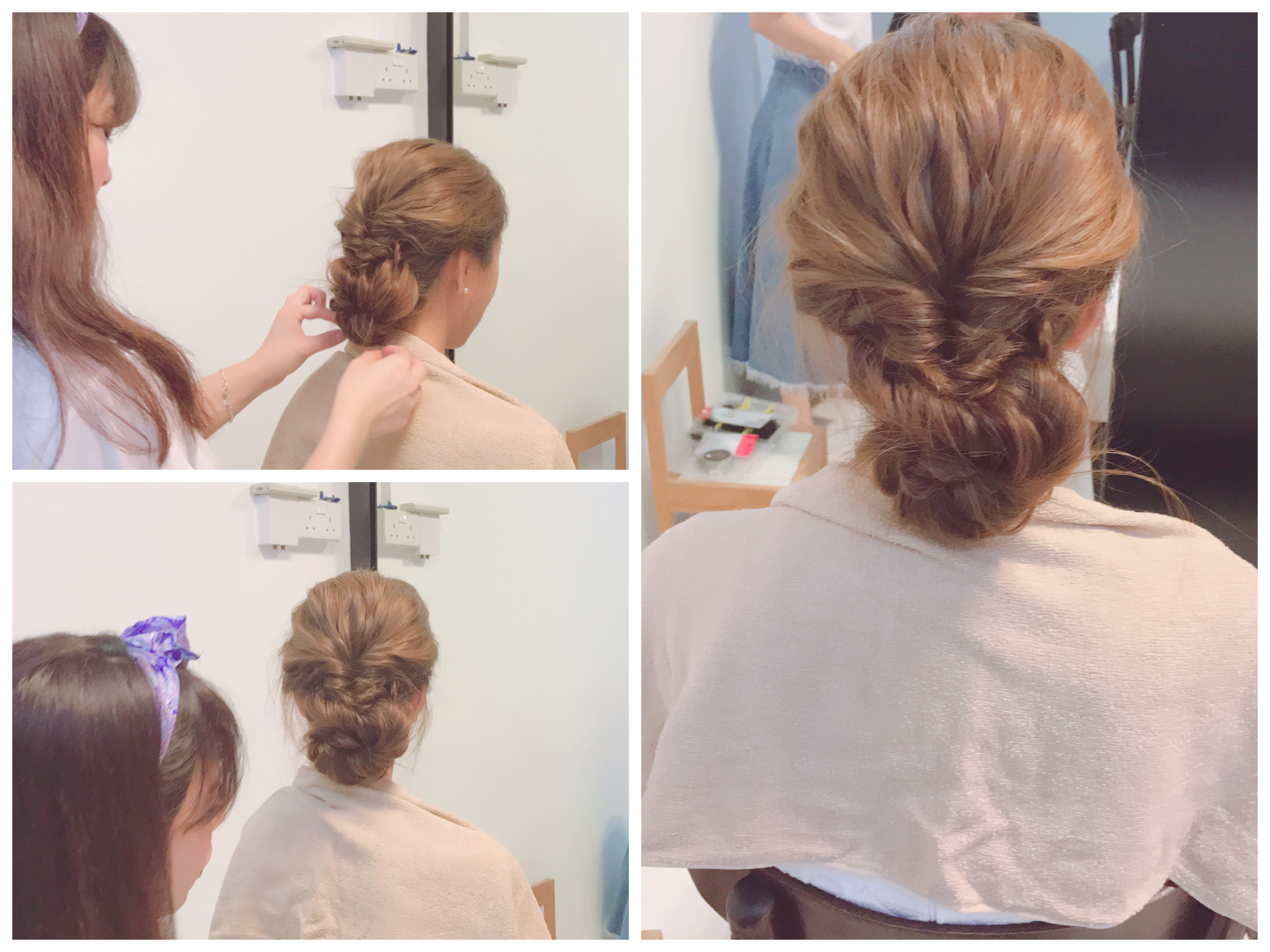 Actual wedding day hair styling