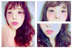 Makeup shooting メイク コテ巻き オン眉 Cosme