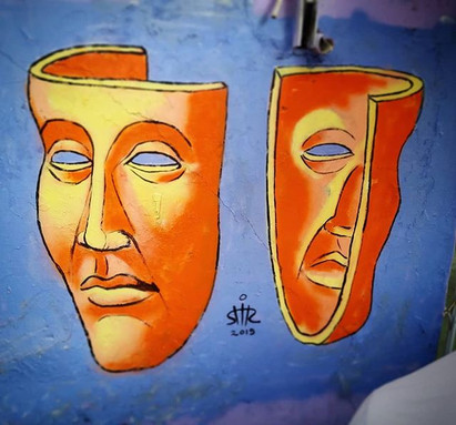 Your mask, My mask Free hand spray & acrylic. Shir Lamdan Nahalat Binyamin, Tel Aviv