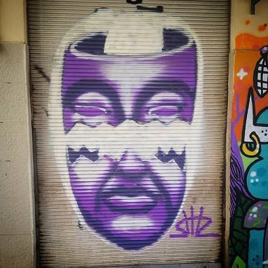 Shir Lamdan Free hand spray. Florentin, Tel Aviv