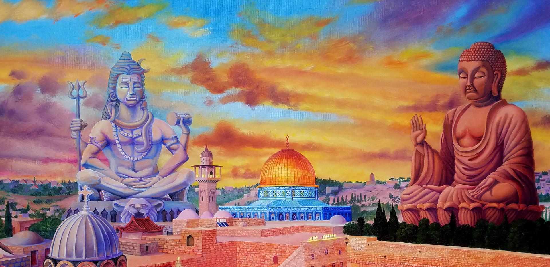 ירו-שלום שיר למדן שמן על בד  80x100 ס״מ 2018למכירה Shir Lamdan oil on canvas 80 x100 cm for sale