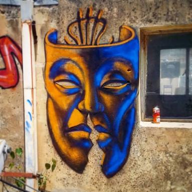 Shir Lamdan Free hand spray. On L.O.L´s roof top. Tel Aviv