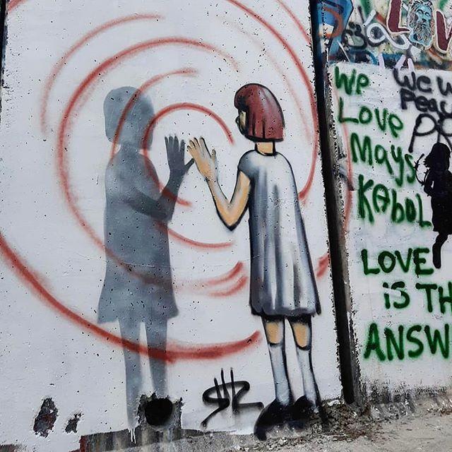 Shir Lamdan Free hand spray. Beth Lehem. Palestine