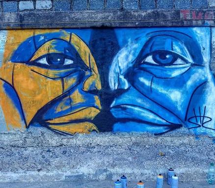 Shir Lamdan Free hand spray. Playa Pocitos Montevideo Uruguay