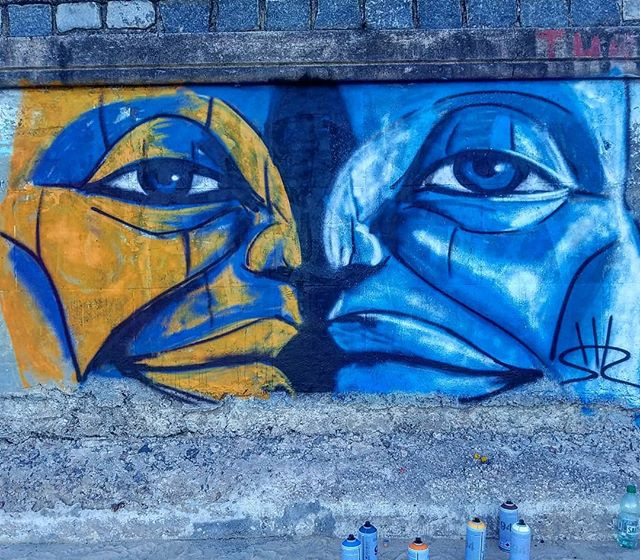 Shir Lamdan Free hand spray. Playa Pocitos Montevideo Uruguay