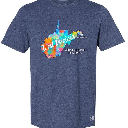 West Virginia crew-neck -front print shirt