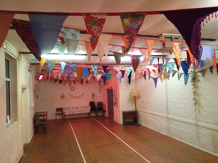 Inside Mamhead Village Hall