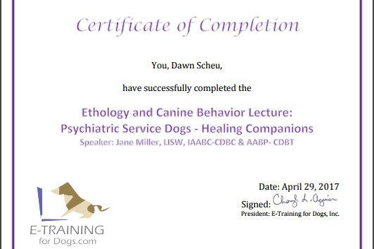 Certificate Phyciatric service Dog.PNG
