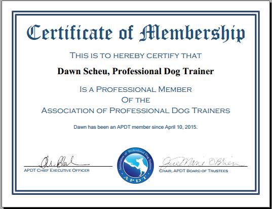 APDT Certified member