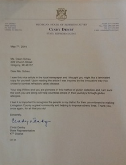 Letter from State rep for Gluten.PNG