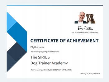 Blythe SIRUS Dog Trainer Cert.PNG
