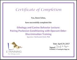 Certificate Pareing Pavlovian conditioning