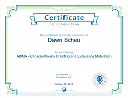 ABMA Motivation Certificate