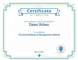 ABMA Certificate