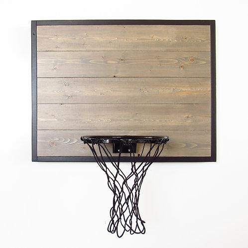 Gray Wall Mount Wood Basketball Hoop