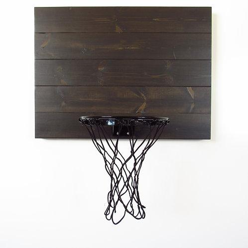 Black Wood Basketball Hoop with Black Rim