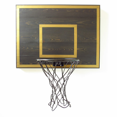 Gold Metallic Lined Indoor Basketball Hoop