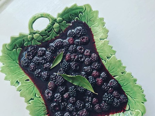 Blackberries & Bay, Brown Sugar Meringues
