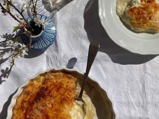 Bury me in Bechamel: Endive & Pancetta Gratin