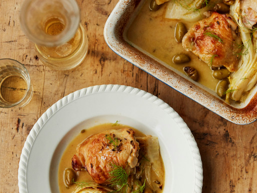 Baked Chicken with Citrus, Fennel & Olives
