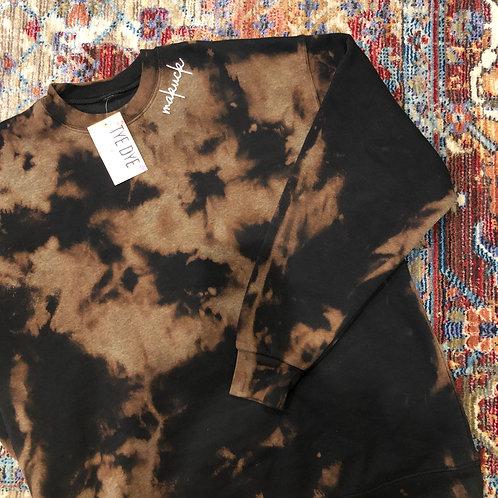 Black Reverse (Adult Unisex) Crewneck Dyed Sweatshirt