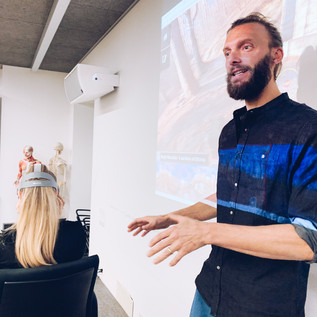 Felix explains work done with the elderly on vr immersions