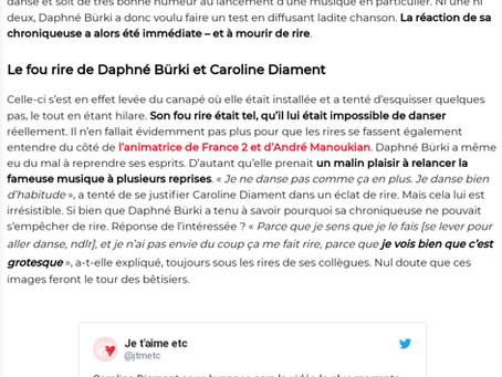 Caroline Diament sous hypnose pour le plus grand plaisir de Daphné Bürki